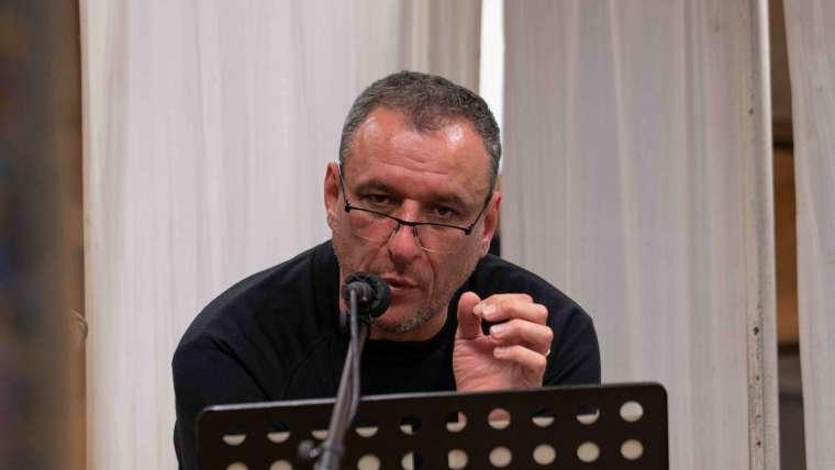 Borovics Tamás a hangjáték felvételén