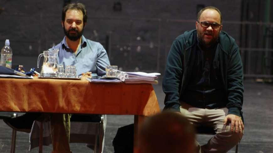 Dinyés Dániel zenei vezető és Göttinger Pál rendező (Fotó: Vörös B. Zoltán)